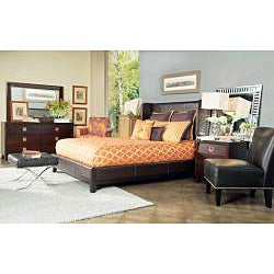 angelo:HOME Marlowe King-size Bonded Leather Shelter Bed
