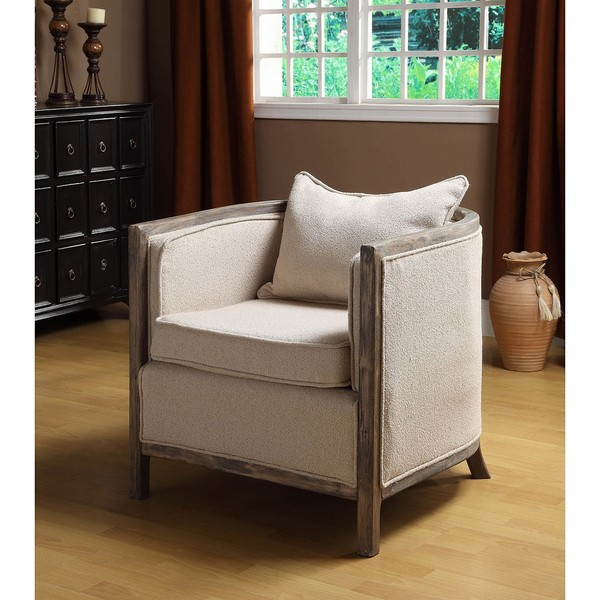 Channing Bleached Gray Club Chair