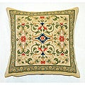Corona Decor Belgian Woven Intricate Filigree Decorative Throw Pillow