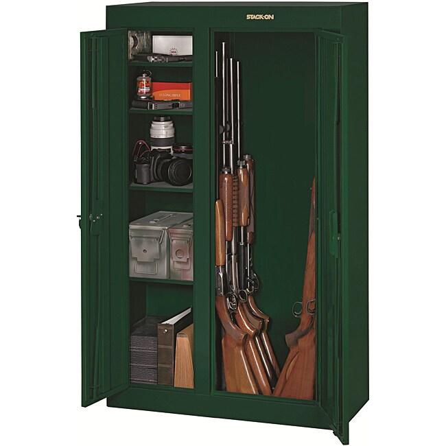 Stack On 10 Gun Double Door Steel Security Cabinet 13679491 Overstock Com Shopping The