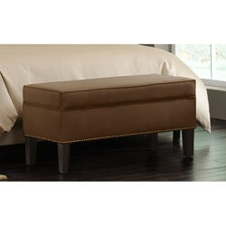 Made-to-Order Chocolate Brown Storage Bench