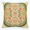 Corona Decor Belgian Woven Intricate Filigree Decorative Pillow