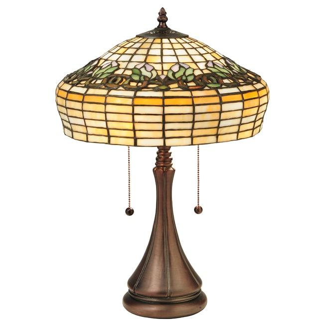 Tiffany Style Raised Tulip Table Lamp