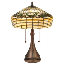 Tiffany Style Raised Tulip Table Lamp