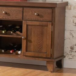 Kai Oak Brown 3-drawer Wine Rack Storage Server
