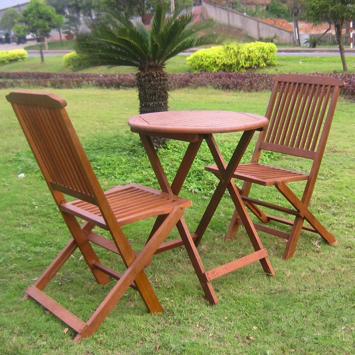 International Caravan Acacia 3-piece Folding Bistro Set at Sears.com