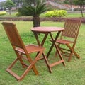 International Caravan Acacia 3-piece Folding Bistro Set