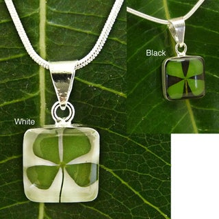 Sterling Silver Four-leaf Clover Necklace (Mexico)