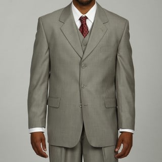 Phat Farm Men's Light Grey 3-button Vested Suit