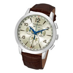 Stuhrling Original Men's Navigator de LeonSwiss Stainless-Steel Quartz Chronograph Watch