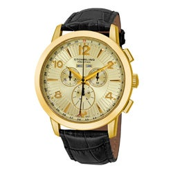 Stuhrling Original Men's Navigator de LeonSwiss Quartz Chronograph Watch
