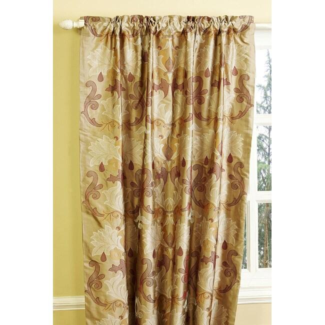 Abelina Dupioni 84-inch Silk Curtain Panel