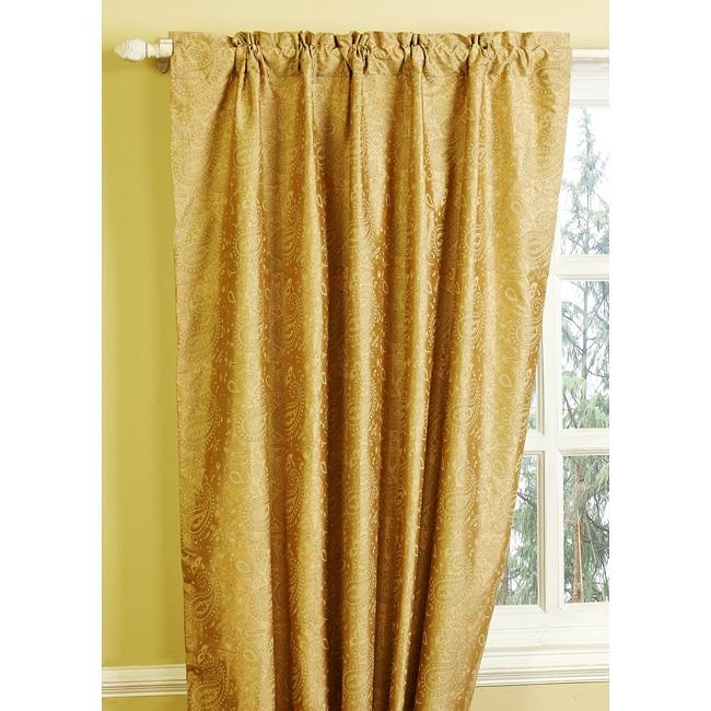 fosetta dupioni silk paisley curtain 84 overstock