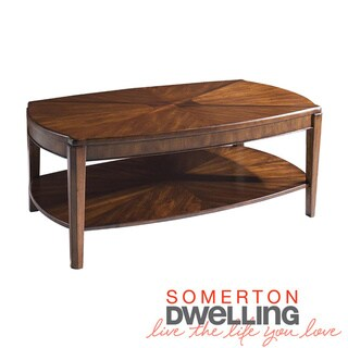 Somerton Dwelling Wood Blend Oval Cocktail Table