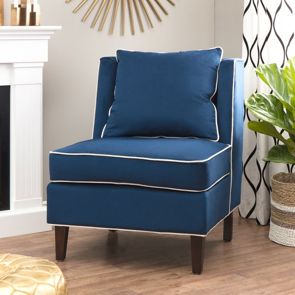 Dexter Navy Armless Chair