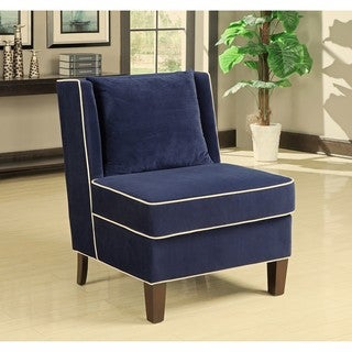 Dexter Navy Armless Chair Overstock Shopping Great Deals On Living Room C