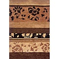 Hand-Tufted Floral Wool Area Rug (8' x 11')
