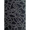 Hand-tufted Abstract Black Wool Rug (8' x 11')