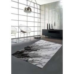 Hand-tufted Swirl Ivory Wool Rug (8' x 11')