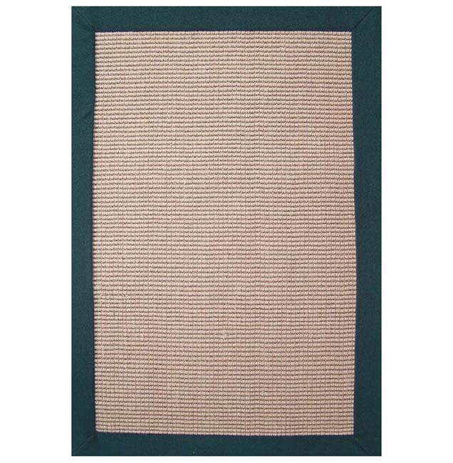 Hand-woven Sisal Emerald Rug (5' x 8')