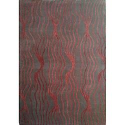 Hand-tufted Mocha Brown Wool Rug (8' x 11')