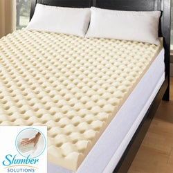 Slumber Solutions Big Bump 3-inch Memory Foam Mattress Topper