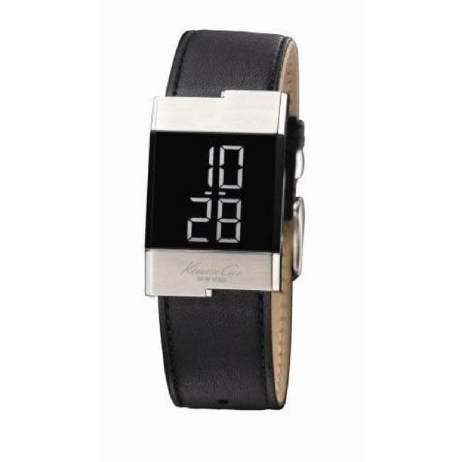 Kenneth Cole Women's Digital Leather Band Watch