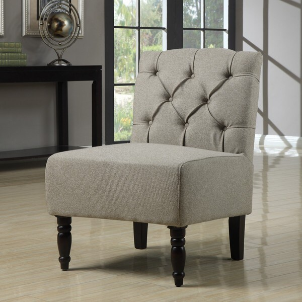 Lola Seashell Tufted Armless Chair