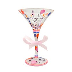 American Atelier Delish Happy Birthday 7-oz Martini Glass