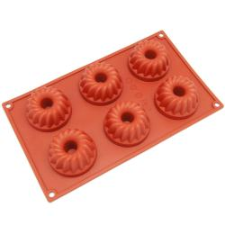 Freshware 6-cavity Coffee Cake Silicone Mold/ Baking Pans (Pack of 2)
