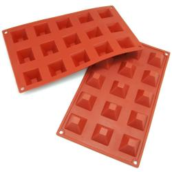 Freshware 15-cavity Mini Pyramid Silicone Mold/ Baking Pans (Pack of 2)