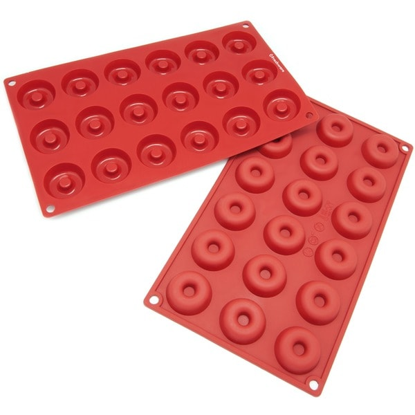 Freshware 18-cavity Mini Savarin and Donut Silicone Mold/ Baking Pans (Pack of 2) 8104359