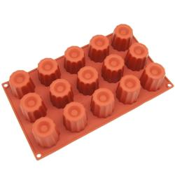 Freshware 15-cavity Small Canneles Silicone Mold/ Baking Pans (Pack of 2)