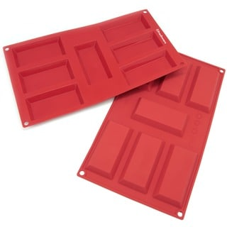 Freshware 7-cavity Financier Silicone Mold/ Baking Pans (Pack of 2)