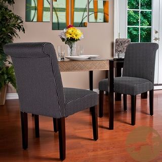 Christopher Knight Home Charcoal Contrast Stitch Dining Chairs (Set of 2)