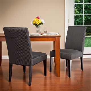 Charcoal Contrast Stitch Dining Chairs (Set of 2)