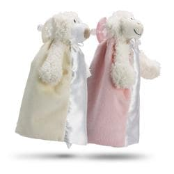My First Friend Pink Plush Pacifier Blanket Set