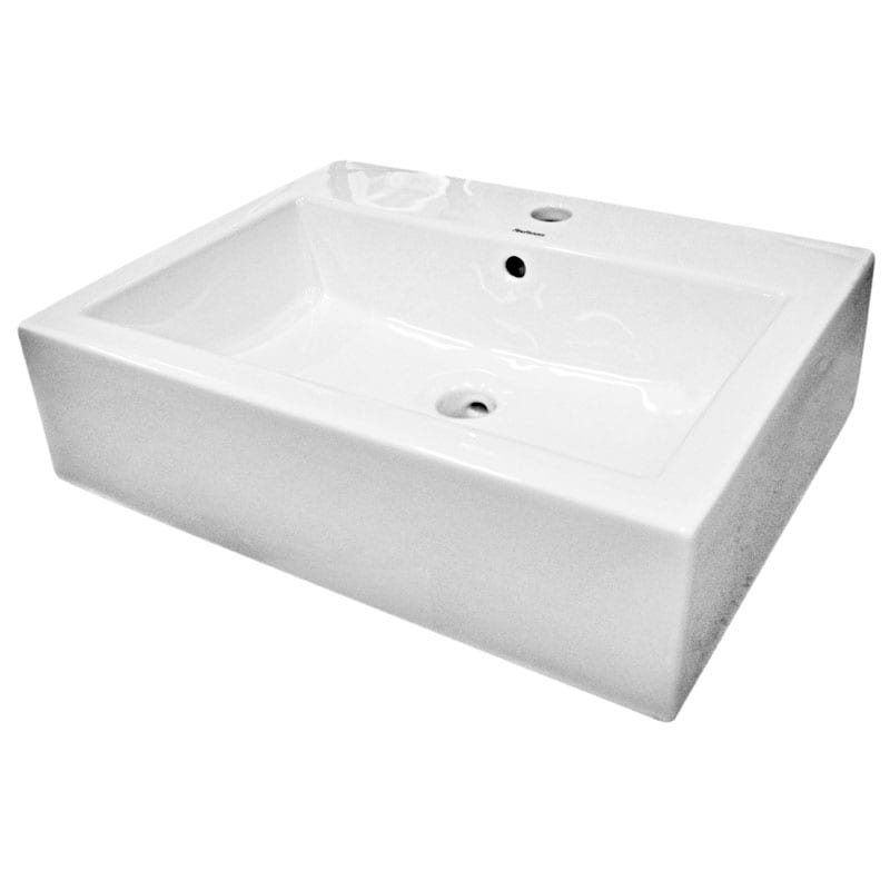 Somette Ceramic White Bathroom Vessel Sink