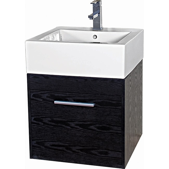 Somette Glamour 20 Inch Wood Black White Vanity Overstock Shopping Great Deals On Somette