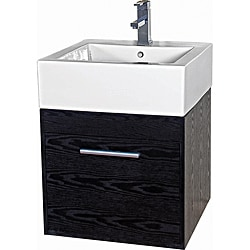 Glamour 20 Inch Wood Black/ White Vanity