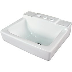 Ceramic 14-inch Small White Wallmount Sink