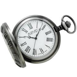 August Steiner Men's Walking Liberty Half Dollar Antique Silver Pocket Watch