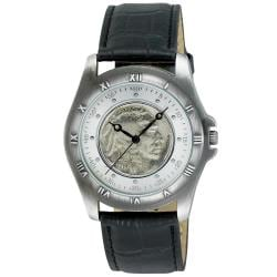 August Steiner Men's Buffalo Nickel Collectors Silver Coin Watch