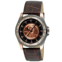 August Steiner Men's Wheat Penny Antique Copper Coin Watch