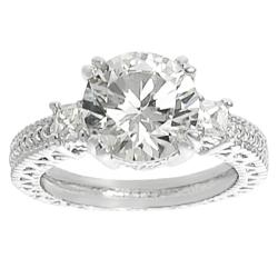 Journee Collection Silvertone Brass Round CZ Bridal & Engagement Ring