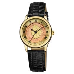 August Steiner Ladies Indian Head Penny Collectors Gold Coin Watch