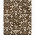 Hand-Tufted Contemporary Mandara Floral Brown Wool Rug (6' x 9')