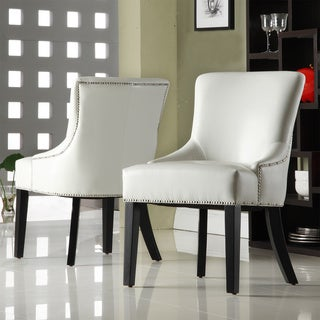 Westmont White Faux Leather Chairs (Set of 2)