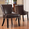 Westmont Brown Faux Alligator Print Chairs (Set of 2)
