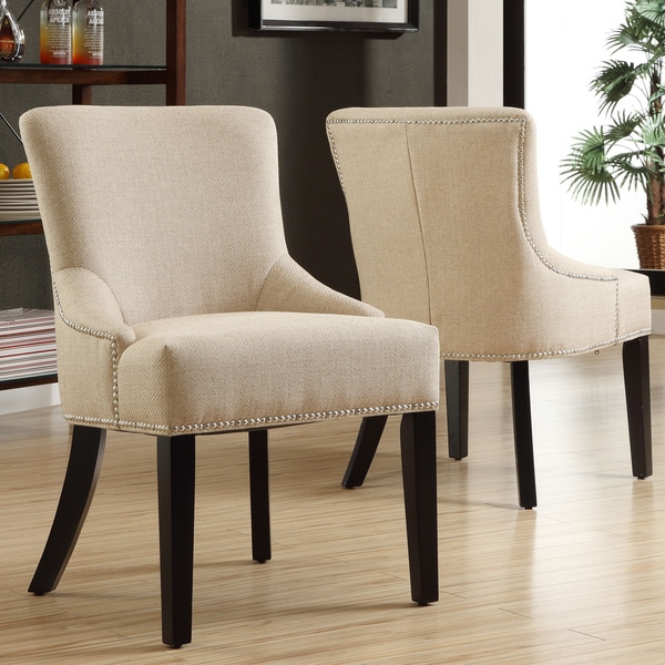Westmont Beige Linen Chairs (Set of 2)
